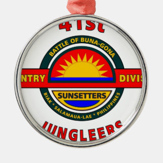 """第41歩兵部隊""""JUNGLEERS """" メタルオーナメント"""