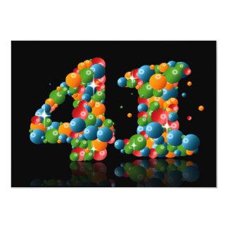 第41泡および球を持つ誕生会、 カード
