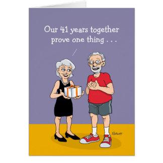 第41結婚記念日カード: 愛 カード