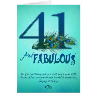 第41誕生日のテンプレートカード カード