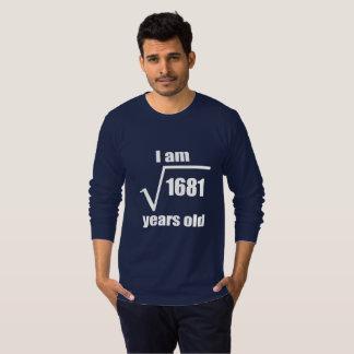 第41誕生日の二乗根のTシャツ Tシャツ