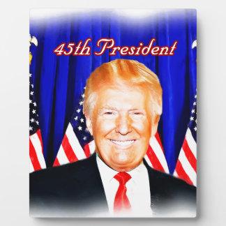 第45大統領ドナルドの切札の_ フォトプラーク