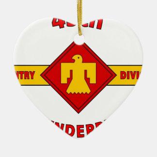 """第45歩兵部隊""""THUNDEBIRD """" セラミックオーナメント"""