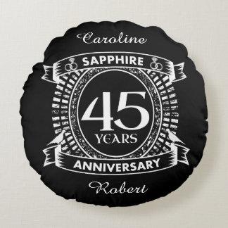 第45結婚記念日のサファイアの頂上 ラウンドクッション