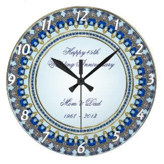 第45結婚記念日の柱時計 ラージ壁時計