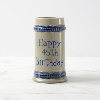 第45誕生日ステイン ビールジョッキ