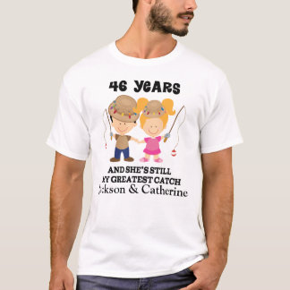 第46彼のための記念日のカスタムなギフト Tシャツ