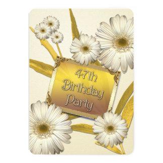 第47デイジーの誕生日のパーティの招待状 カード