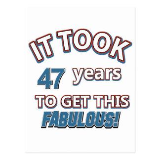 第47年の誕生日のデザイン ポストカード