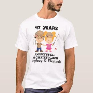 第47彼のための記念日のカスタムなギフト Tシャツ