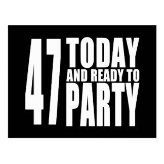 第47誕生会: 47今日及びパーティを楽しむために用意して下さい ポストカード