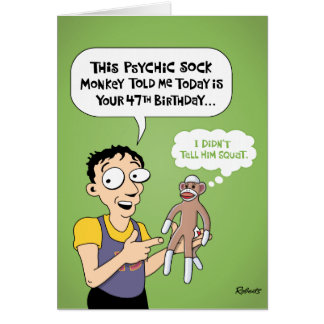 第47誕生日のおもしろいな挨拶状 カード