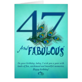 第47誕生日のテンプレートカード カード