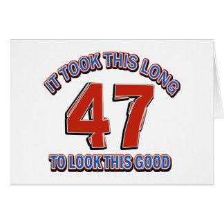 第47誕生日のデザイン カード
