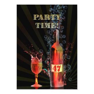 第47誕生日のパーティの招待状 カード