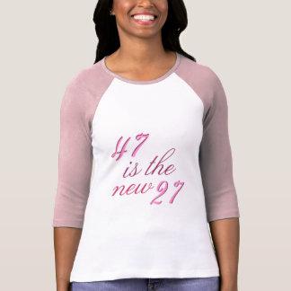 第47誕生日の冗談47はおもしろいな新しい27です Tシャツ
