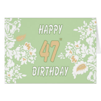 第47誕生日の挨拶状 カード