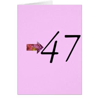 第47誕生日 カード