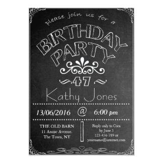 第47黒板の誕生祝いの招待状 カード