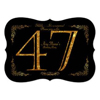 第47、誕生会第47、素晴らしいのGatsby、黒及び金ゴールド カード