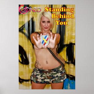 第48ジョージアの軍隊の国家警備隊のピンナップの女の子 ポスター