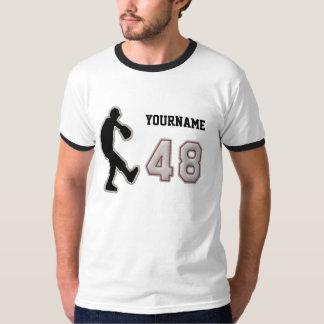 第48水差しのユニフォーム-クールな野球のステッチ Tシャツ