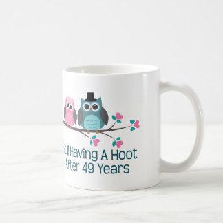 第49結婚記念日のやじり声のためのギフト コーヒーマグカップ