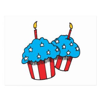 第4 7月のカップケーキの ポストカード