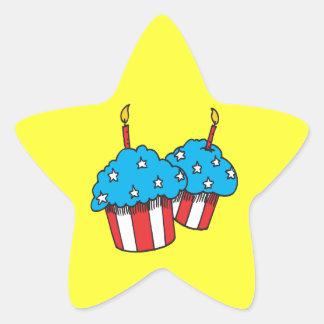 第4 7月のカップケーキの 星シール