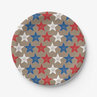 第4 7月のグランジな星のクラフトのパーティーの紙皿の ペーパープレート