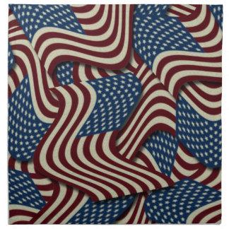 第4 7月のパーティの赤く白くおよび青の米国旗の ナプキンクロス