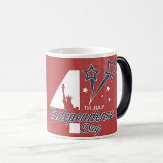 第4 7月の独立記念日 マジックマグカップ