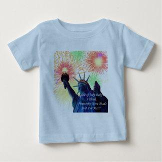 第4 7月の誕生日の ベビーTシャツ