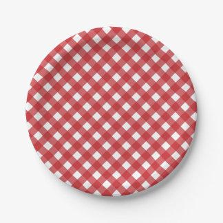 第4 7月の赤く白い点検によっては紙皿がパーティを楽しみます ペーパープレート