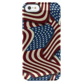 第4 7月の赤く白くおよび青の米国旗の クリア iPhone SE/5/5sケース
