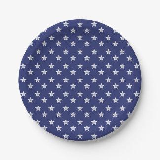 第4 7月の青い白人のパーティーの紙皿を主演します ペーパープレート