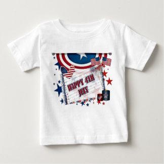 第4 7月の ベビーTシャツ