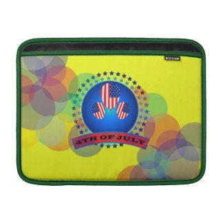 """第4 7月Macbookの空気13""""の袖の黄色 MacBook スリーブ"""