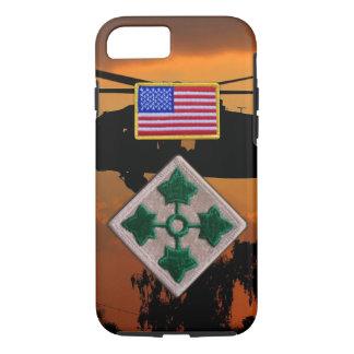第4 INF DIVの歩兵部隊の退役軍人の獣医パッチ iPhone 8/7ケース