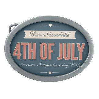 第4 os 7月の楕円形のベルトの留め金 卵形バックル