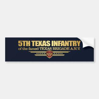 第5テキサス州の歩兵 バンパーステッカー