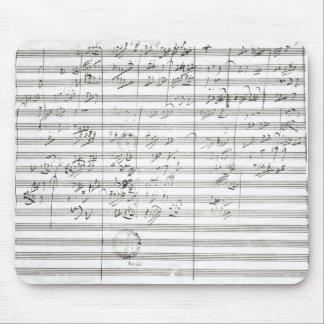 第5交響曲の第3動きのためのスコア マウスパッド