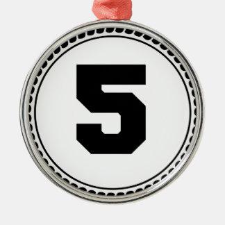 第5円 メタルオーナメント