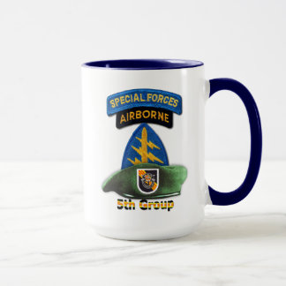 第5特殊部隊のグループの緑色のベレー帽SFG SFの獣医 マグカップ