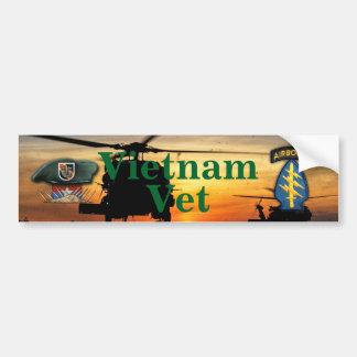 第5特殊部隊の緑色のベレー帽SF SFGベトナムNam バンパーステッカー
