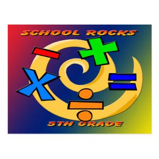 第5等級の石-数学の記号 ポストカード