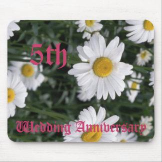 第5結婚記念日-デイジー マウスパッド