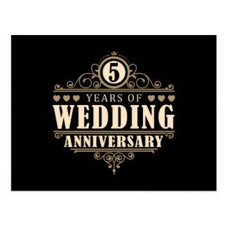 第5結婚記念日 ポストカード