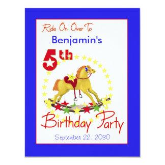 第5誕生会の揺り木馬 カード