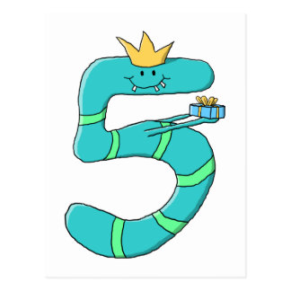第5誕生日、小ガモの漫画モンスター ポストカード